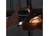 Aca Κρεμαστό Τρίφωτο Φωτιστικό Μαύρο - Χάλκινο (EG166123PBC)