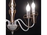Aca Κρεμαστό Πεντάφωτο Φωτιστικό Λευκό - Χρυσό (EG168205PW)
