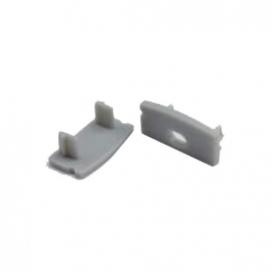 Σετ πλαστικές τάπες 2 τεμ. με & χωρίς τρύπα για προφίλ P2 - P2A (EP2)