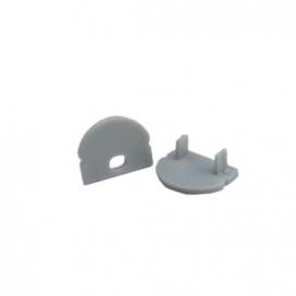 Σετ πλαστικές τάπες 2 τεμ. με & χωρίς τρύπα για προφίλ P2 - P2A (EP2L)