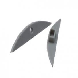 Σετ πλαστικές τάπες 2 τεμ. με & χωρίς τρύπα για προφίλ P21 (EP21)