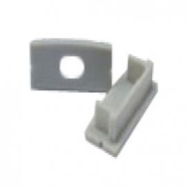 Σετ πλαστικές τάπες 2 τεμ. με & χωρίς τρύπα για προφίλ P14 (EP14)