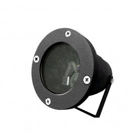 Στεγανό Φωτιστικό Σποτ Αλουμινίου GU10 Μαύρο (4-9042201)
