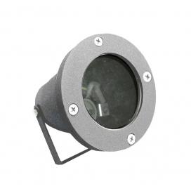 Στεγανό Φωτιστικό Σποτ Αλουμινίου GU10 Γκρι (4-9042206)