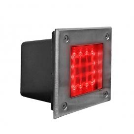 Στεγανό Led Φωτιστικό Δαπέδου 1W Κόκκινο (3-130426)