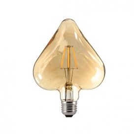 Λάμπα Filament Led Amber Heart 6W E27 2700K Dimmable (HEART6WWDIMAM)