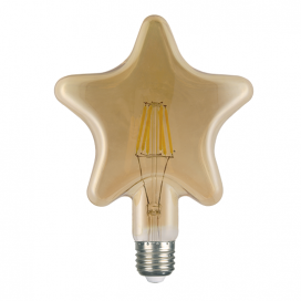 Λάμπα Filament Led Amber Star 6W E27 2700K Dimmable (STAR6WWDIMAM)