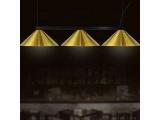 Luma Μοντέρνο Τρίφωτο Φωτιστικό - Ράγα (100-09620-08G)