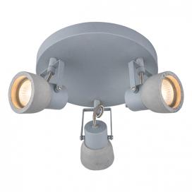Aca Τρίφωτο Φωτιστικό Οροφής - Τοίχου Γκρι (MC171153)