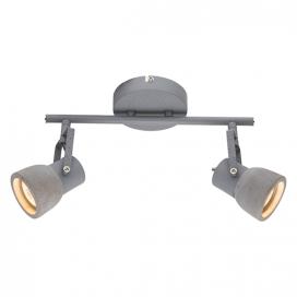 Aca Δίφωτο Φωτιστικό Οροφής - Τοίχου Γκρι (MC171152)
