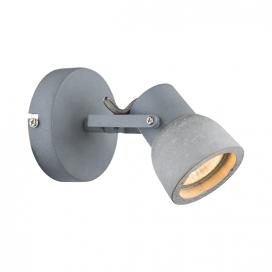 Aca Μονόφωτο Φωτιστικό Οροφής - Τοίχου Γκρι (MC171151)