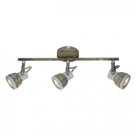 Aca Τρίφωτο Φωτιστικό Οροφής - Τοίχου Γκρι - Απόχρωση Σκουριάς (MC167793R)