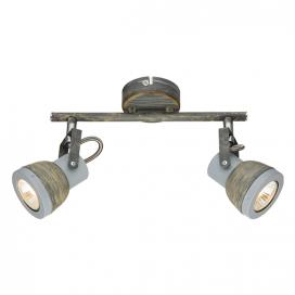 Aca Δίφωτο Φωτιστικό Οροφής - Τοίχου Γκρι - Απόχρωση Σκουριάς (MC167792R)
