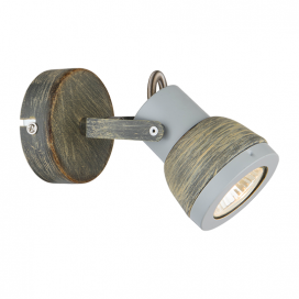 Aca Μονόφωτο Φωτιστικό Οροφής - Τοίχου Γκρι - Απόχρωση Σκουριάς (MC167791R)