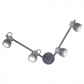 Aca Τετράφωτο Φωτιστικό Οροφής - Τοίχου Γκρι - Απόχρωση Τσιμέντου (MC167794C)