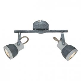 Aca Δίφωτο Φωτιστικό Οροφής - Τοίχου Γκρι - Απόχρωση Τσιμέντου (MC167792C)