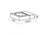 Aca Led Επιτοίχιο Φωτιστικό 6W 3000K Γκρι (ZD80856LEDGY)