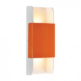 Aca Led Επιτοίχιο Φωτιστικό 12W 3000K Πορτοκαλί - Λευκό (ZD808712LEDOW)
