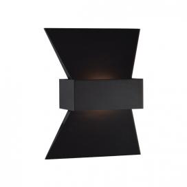 Aca Led Επιτοίχιο Φωτιστικό 6W 3000K Μαύρο (ZD81166LEDBK)