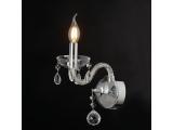 Aca Μονόφωτο Επιτοίχιο Φωτιστικό Διάφανο - Χρώμιο (BLK82041WCC)