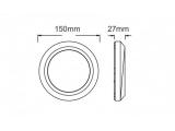 Aca LED SMD επίτοιχη απλίκα Σκουρά 2.8W (SLIM01R)