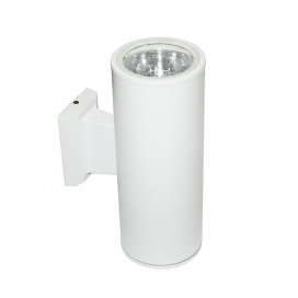 Aca Απλίκα Αλουμινίου Up-Down E27 Λευκή (HI7001W)