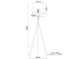 Aca Επιδαπέδιο Φωτιστικό Λευκό (ML307211FW)