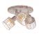 Aca Τρίφωτο Φωτιστικό Οροφής Λευκό Σκουριά (GN733CAW)