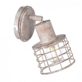 Aca Μονόφωτο Φωτιστικό Οροφής - Τοίχου Λευκό Σκουριά (GN731CAW)