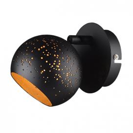 Aca Μονόφωτο Φωτιστικό Οροφής - Τοίχου Μαύρο (GN761CBB)