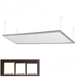 Led Panel 30x120 50W 120° 6300K Ασημί (21-1205060)