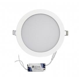 Led SMD slim panel Ø22 18W 120° 6300K Λευκό (21-018100)
