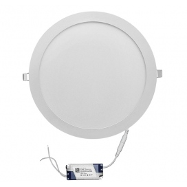 Led SMD slim panel Ø30 25W 120° 6300K Λευκό (21-025100)