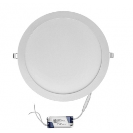 Led SMD slim panel Ø30 30W 120° 6300K Λευκό (21-030100)