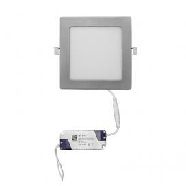 Led SMD slim panel 17x17 12W 120° 6300K Ασημί (21-0122060)
