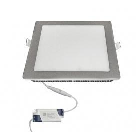 Led SMD slim panel 22x22 18W 120° 3000K Ασημί (21-01820600)