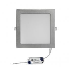 Led SMD slim panel 22x22 25W 120° 3000K Ασημί (21-02521600)