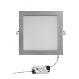 Led SMD slim panel 22x22 25W 120° 6300K Ασημί (21-0252160)
