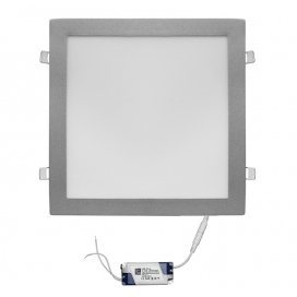 Led SMD slim panel 29.5x29.5 25W 120° 3000K Ασημί (21-02520600)