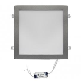 Led SMD slim panel 29.5x29.5 30W 120° 3000K Ασημί (21-0302600)