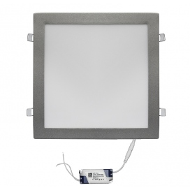 Led SMD slim panel 29.5x29.5 30W 120° 6300K Ασημί (21-030260)
