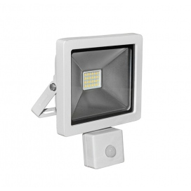 LED SMD Λευκός προβολέας αλουμινίου με αισθητήρα κίνησης 20W 120° 4000K (3-32001)