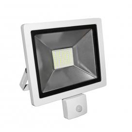 LED SMD Λευκός προβολέας αλουμινίου με αισθητήρα κίνησης 30W 120° 4000K (3-33001)