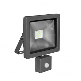 LED SMD Ανθρακί προβολέας αλουμινίου με αισθητήρα κίνησης 10W 120° 4000K (3-31011)