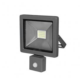 LED SMD Ανθρακί προβολέας αλουμινίου με αισθητήρα κίνησης 20W 120° 4000K (3-32011)