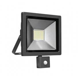 LED SMD Ανθρακί προβολέας αλουμινίου με αισθητήρα κίνησης 30W 120° 4000K (3-33011)