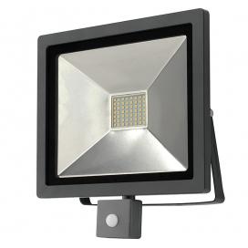 LED SMD Ανθρακί προβολέας αλουμινίου με αισθητήρα κίνησης 50W 120° 4000K (3-35011)