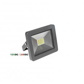 LED SMD Ανθρακί προβολέας 10W 12 - 24V DC 120° 4000K (3-310221)