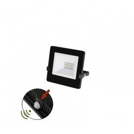 LED SMD Μαύρος Προβολέας με Φωτοκύτταρο Ημέρας - Νύχτας 10W 120° 4000K (3-0301011)