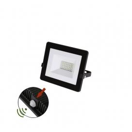 LED SMD Μαύρος Προβολέας με Φωτοκύτταρο Ημέρας - Νύχτας 20W 120° 4000K (3-0302011)